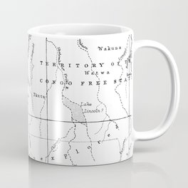 Black And White Vintage Map Of Africa Coffee Mug