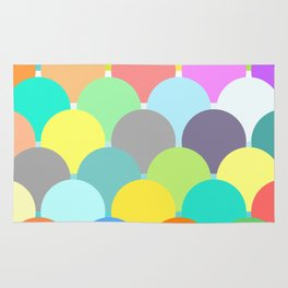 colorful circles Rug