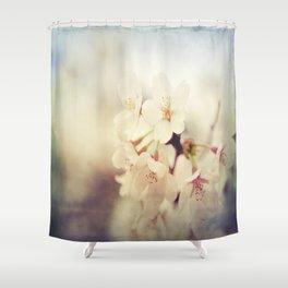 White Poppy Grudge Shower Curtain