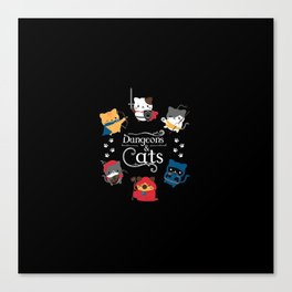 Dungeons And Cats Canvas Print