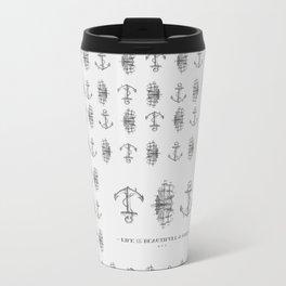Anchor & Sailboat Metal Travel Mug