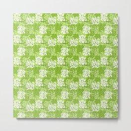 Swanky Mo Lime Metal Print