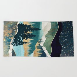 Star Lake Beach Towel
