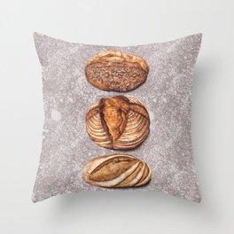 Freshly Baked Bread - Bread Lovers Artwork  Throw Pillow
