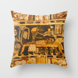 Egyptian Ancient Art Throw Pillow