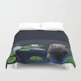 The River Otter by Teresa Thompson Duvet Cover