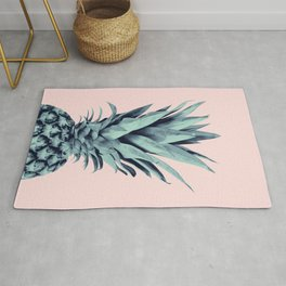 Blush Pineapple Dream #1 #tropical #fruit #decor #art #society6 Rug