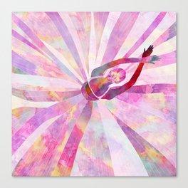 Sleeping Ballerina Floral Canvas Print