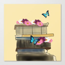 Books and Butterflies - An Introverts Dream Canvas Print