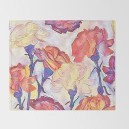 Painted Carnations Decke