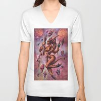 aries V-neck T-shirts featuring Aries by David Bollt
