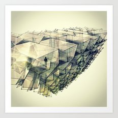 Angular Views  Art Print