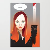 kill bill Canvas Prints featuring Kill Bill by Martynas Juchnevicius