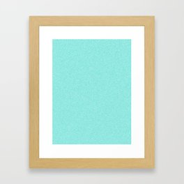 Dense Melange - White and Turquoise Framed Art Print