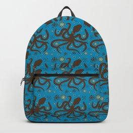 Ancient Greek Octopus Pattern Backpack