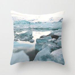 Iceland Glacier Lagoon   Jökulsárlón Throw Pillow