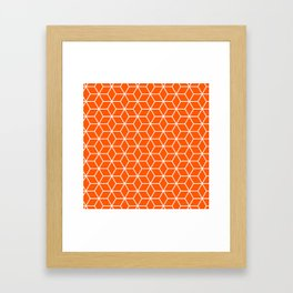 Winter 2019 Color: Unapologetic Orange in Cubes Framed Art Print
