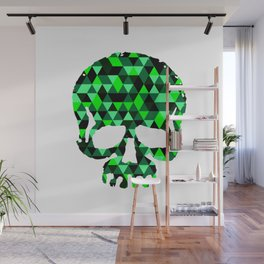 Triangle Camouflage Skull (WITHE) Wall Mural