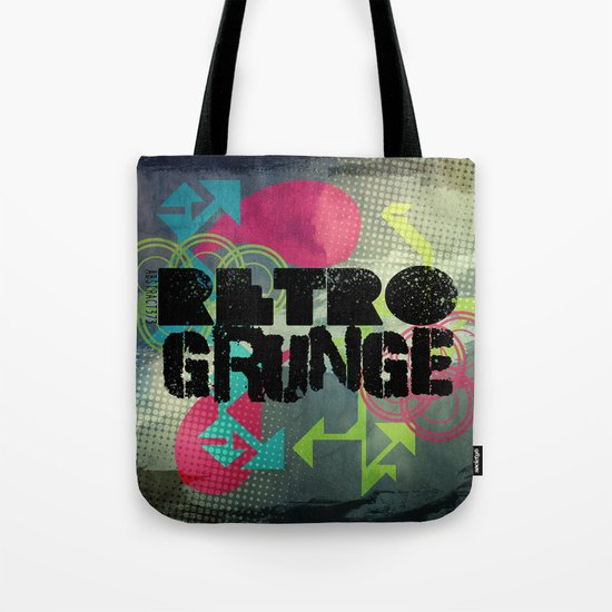 Abstract373 Retro Grunge Tote Bag