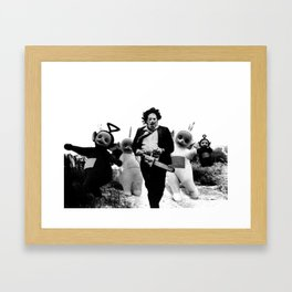 Leatherface with Teletubbies Framed Art Print