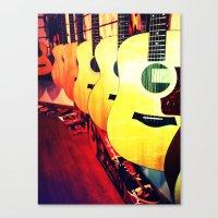 nashville Canvas Prints featuring Nashville by bobbierachelle