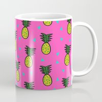 pineapples Mugs featuring Pineapples by Sandra Arduini