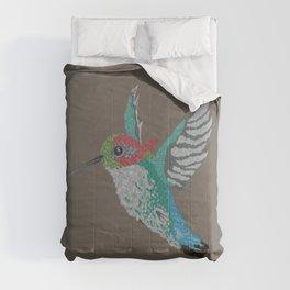 Bee Hummingbird [ON COFFEE BROWN] Comforters