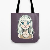 chandelier Tote Bags featuring Chandelier by Jessi's Art
