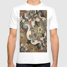 Marble Filigree Mens Fitted Tee MEDIUM White