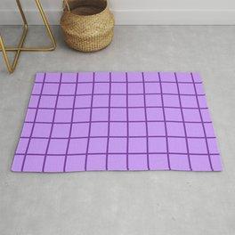 Grid - purple on lavender Rug