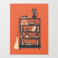 miyazaki Canvas Prints featuring Ghibli Shelf // Miyazaki by Daniel Mackey