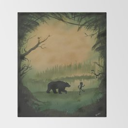 The Jungle Book by Rudyard Kipling Throw Blanket