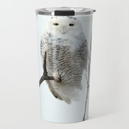 Snowy in the Wind (Snowy Owl) Travel Mug