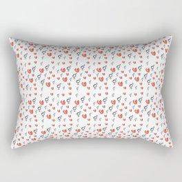 Symbol of Transgender 75 with heart Rectangular Pillow