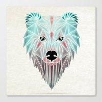 polar bear Canvas Prints featuring polar bear by Manoou