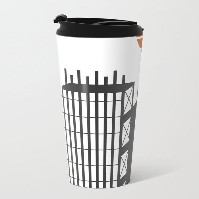 City in construction Metal Travel Mug