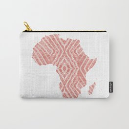 Africa in Peach Carry-All Pouch