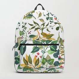 Leafy Pattern Backpack