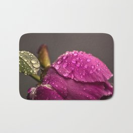 Raindrops on a rose Bath Mat