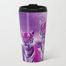 Purple Tiger Travel Mug