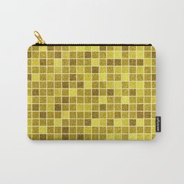 Gold glitter mosaic, geometric gold sparkle abstract pattern Carry-All Pouch