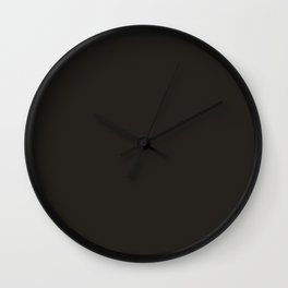 Rust Bucket ~ Black Grey Wall Clock