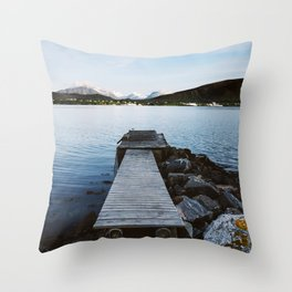 On The Other Side Of The River Throw Pillow