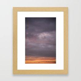 Sky 01/20/2014 18:29 Framed Art Print