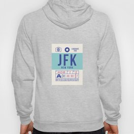 Baggage Tag B - JFK New York John F. Kennedy USA Hoody