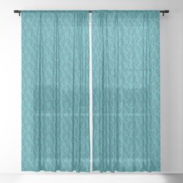 lovers fight - simple bolt doodle pattern Sheer Curtain