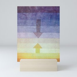 Separation in the Evening by Paul Klee 1922 // Sunset Abstract Minimalism Sun and Darkness Mini Art Print