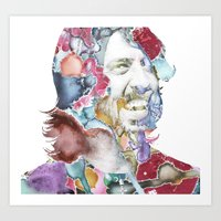 dave grohl Art Prints featuring Dave Grohl by Bethan Eastwood