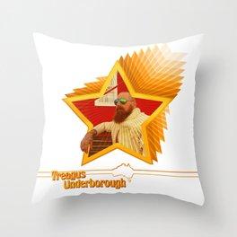 Treagus Underborough (Australian Man of Action) Throw Pillow