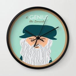 A genius like Leonardo Wall Clock